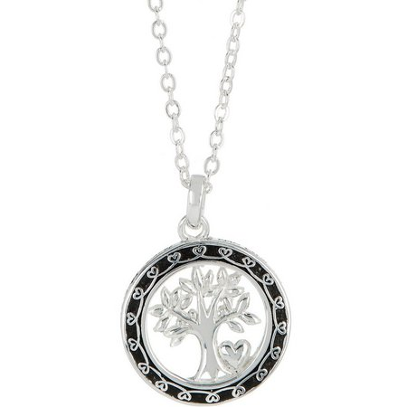 Footnotes Family Tree Where Life Begins Necklace