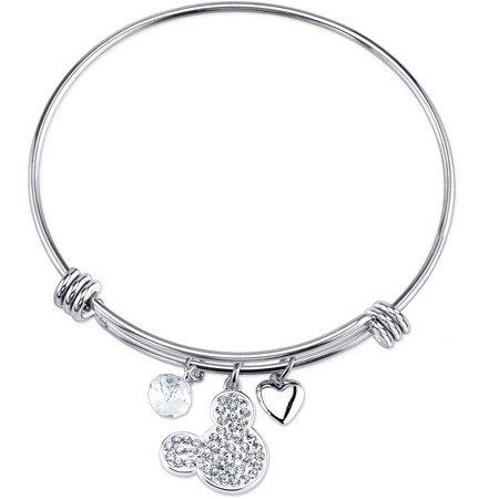 Disney Rhinestone Mickey Mouse Bangle Bracelet