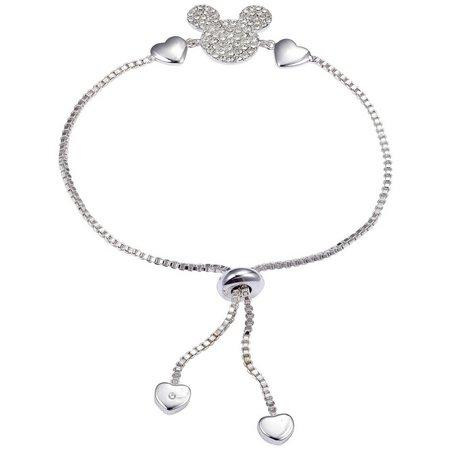 Disney Rhinestone Mickey Slider Chain Bracelet