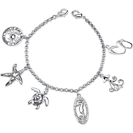 Footnotes Sea Life Charm Dangle Bracelet