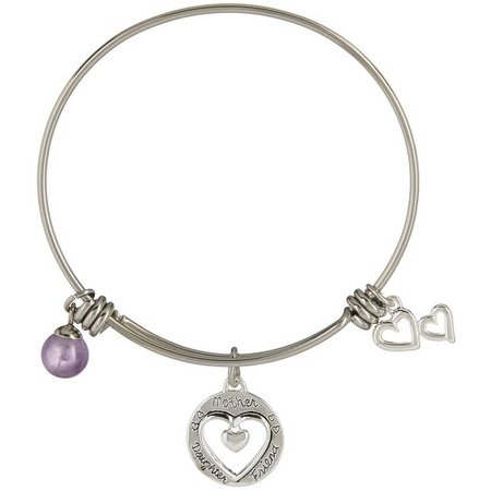 Footnotes Mother Daughter Friend Bangle Bracelet