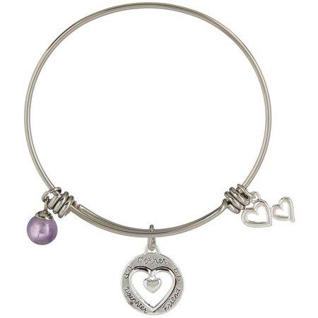 Footnotes Mother Daughter Friend Bangle Bracelet