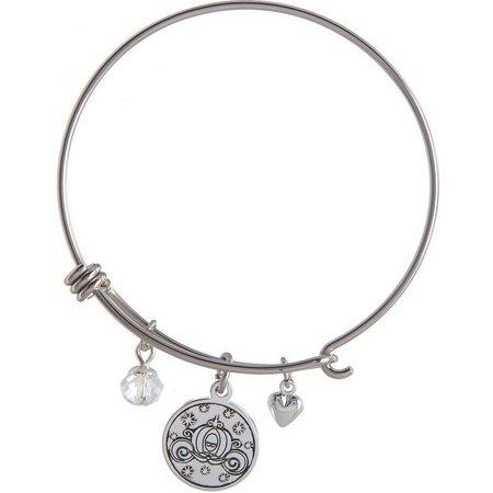 Disney Cinderella Believing Charm Bangle Bracelet