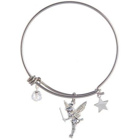 Disney Tinker Bell Star Charm Bangle Bracelet