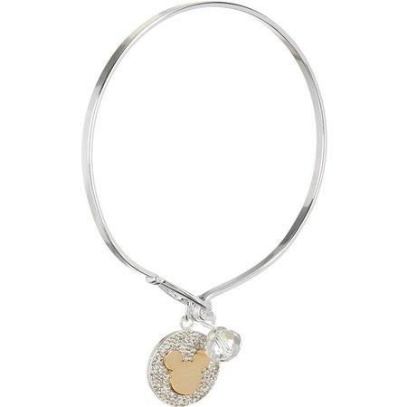 Disney Mickey Two Tone Charm Bangle Bracelet
