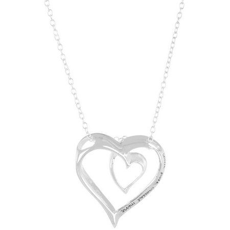 Footnotes I Am Thankful Heart Pendant Necklace