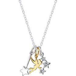 Disney Boxed 3 Charm Two Tone Tinker Bell