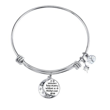Disney Pooh How Many Wishes Charm Bangle Bracelet