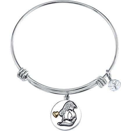 Disney Donald Duck Rhinestone Charm Bangle