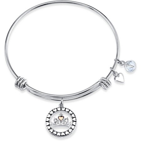 Disney Boxed Silver Cinderella Charm Bangle