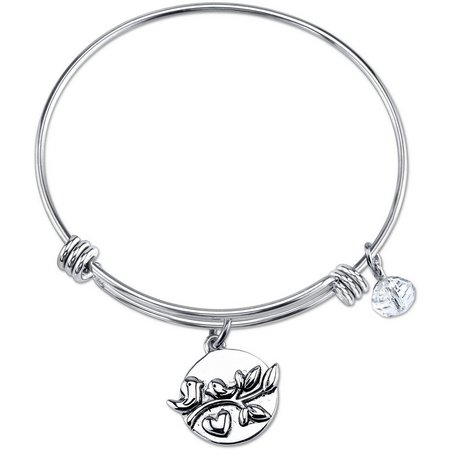 Footnotes Family Life Begins Charm Bangle Bracelet