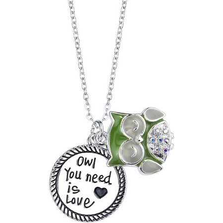 Footnotes Owl You Need Is Love Charm Necklace
