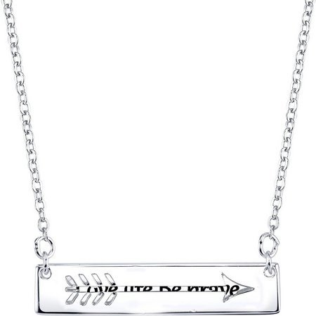 Footnotes Love Life Be Brave Arrow Bar Necklace