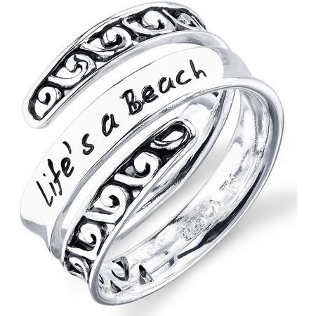 Footnotes Life's A Beach Wrap Ring