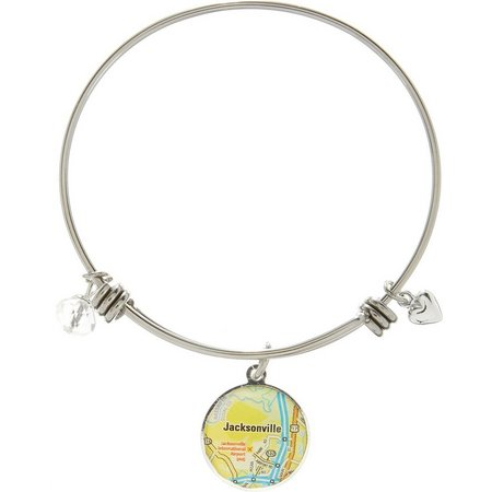 Footnotes Jacksonville FL Charm Bangle Bracelet