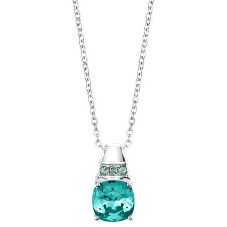 Shine Turquoise Chrysolite Green Pendant Necklace