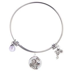 Footnotes Daughter Charm Bangle Bracelet