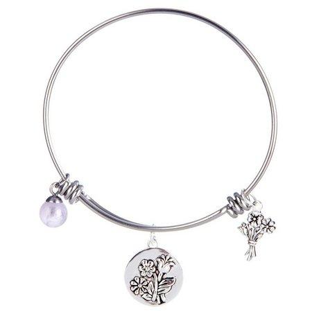 Footnotes Daughter Charm Bangle Bracelet