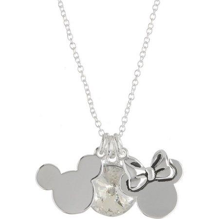 Disney Mickey & Minnie Charms Necklace