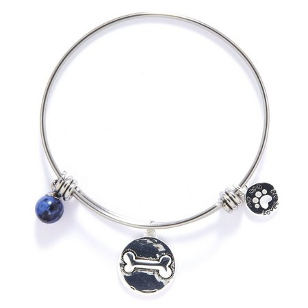 Footnotes I Love My Dog Charm Bangle Bracelet