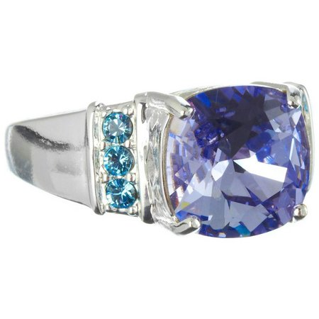 Shine Tanzanite & Aquamarine Blue Ring
