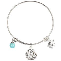 Footnotes Starfish Charm Bangle Bracelet
