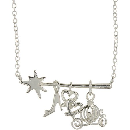 Disney Cinderella Charm Wand Pendant Necklace