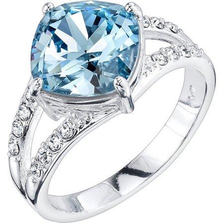 Shine Aqua Blue Crystal Ring