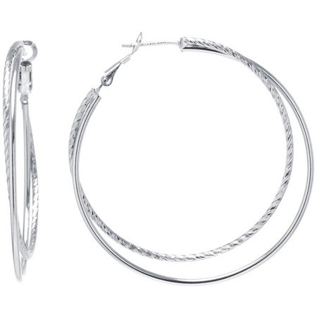 Lily Maris Large Double Row Hoop Earrings