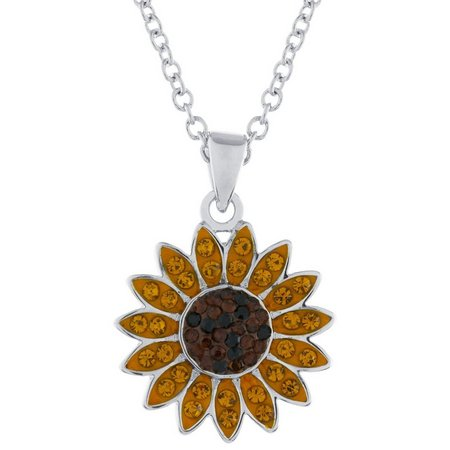 Florida friends crystal elements sunflower pendant necklace bealls florida friends crystal elements sunflower pendant necklace aloadofball Gallery