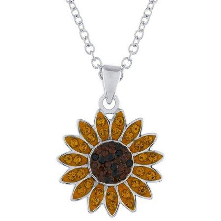 Florida friends crystal elements sunflower pendant necklace bealls florida friends crystal elements sunflower pendant necklace aloadofball Gallery