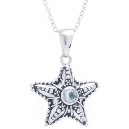 Sora silver tone starfish pendant necklace bealls florida sora silver tone starfish pendant necklace aloadofball Choice Image