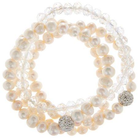 Cultured Freshwater Pearl 4-pc. Bracelet Set
