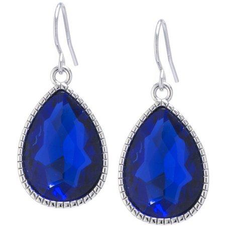 Lily Maris Royal Blue Teardrop Dangle Earrings