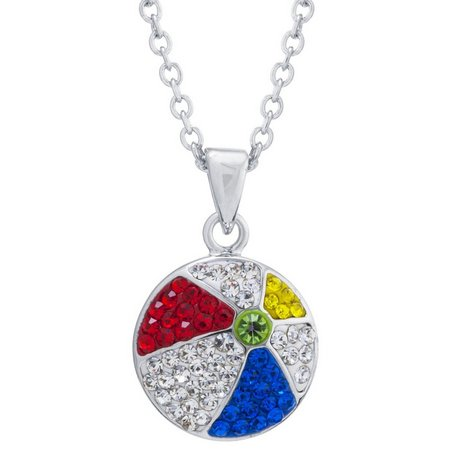 Florida Friends Crystal Beach Ball Necklace