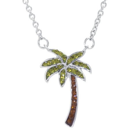 Florida Friends Crystal Palm Tree Necklace