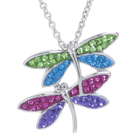 Florida Friends Crystal Dragonfly Pendant Necklace