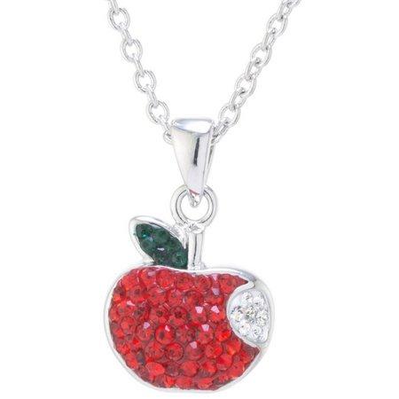 Florida friends crystal elements apple pendant necklace bealls florida close aloadofball Gallery