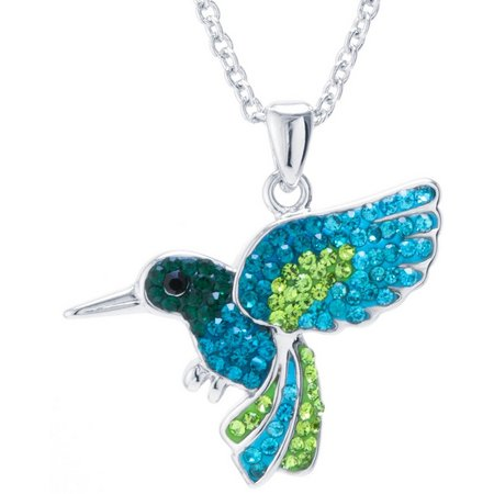 Florida Friends Crystal Elements Hummingbird Necklace