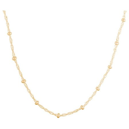 Pure 100 Ball Accent Twisting Chain Necklace