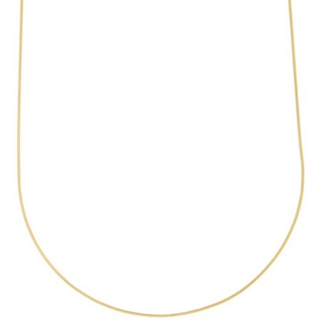 Pure 100 18 Inch Gold Tone Snake Chain
