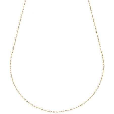 Pure 100 20 Inch Gold Tone Serpentine Necklace