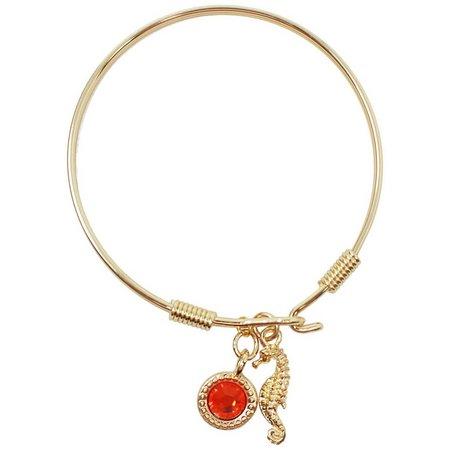 Crystalle Seahorse Charm Bracelet