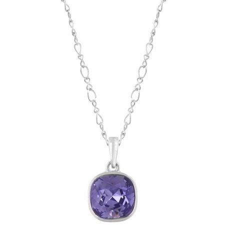 Crystale By L&J Tanzantite Purple Pendant Necklace