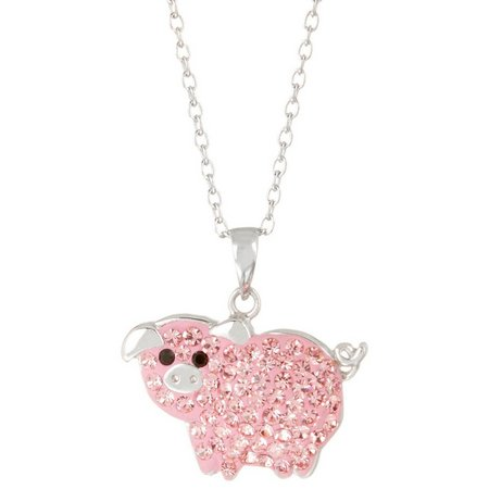 Collectible Critters Pink Pig Necklace