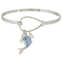 Collectible Critters Dolphin Charm Bangle Bracelet