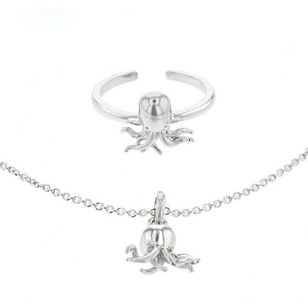 New! Ready Set Beach Octopus Toe Ring &