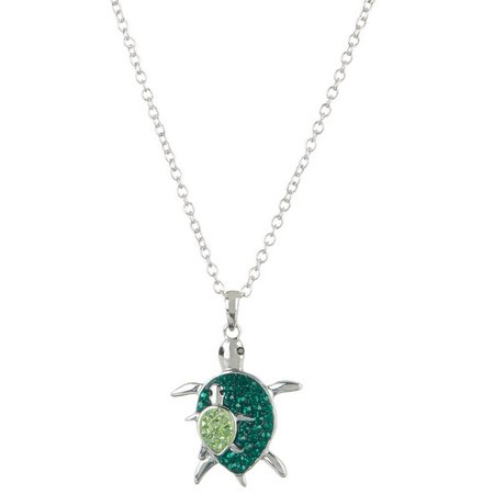 Collectible Critters Mom & Baby Turtle Necklace