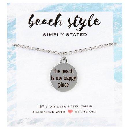 Beach Chic The Beach Is My Happy Pendant
