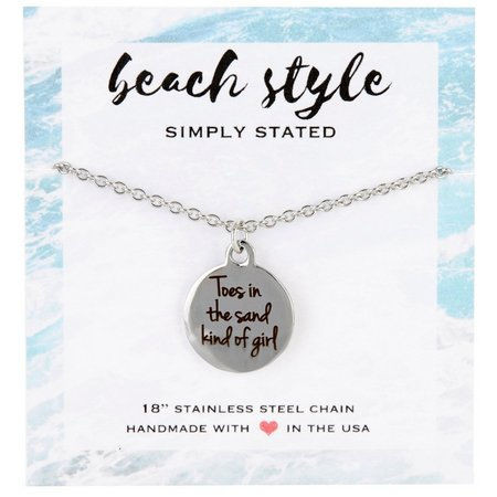 Beach Chic Toes In The Sand Pendant Necklace